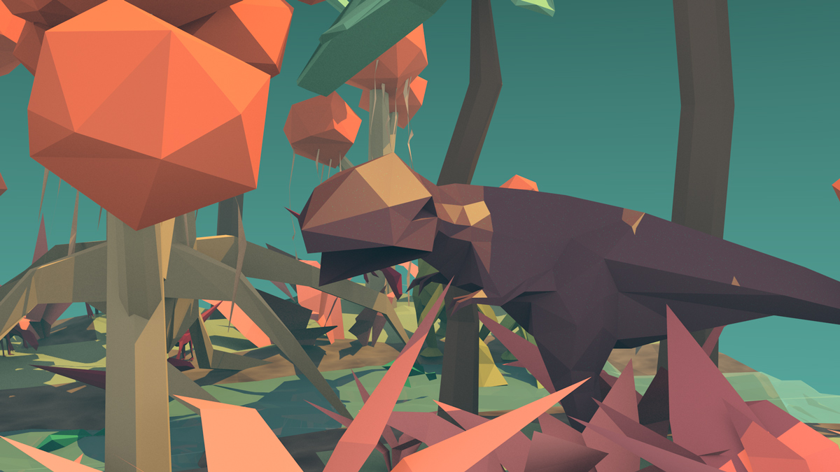 Low Poly Dinosaurier in Blender